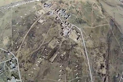 IS drone imagery Syria