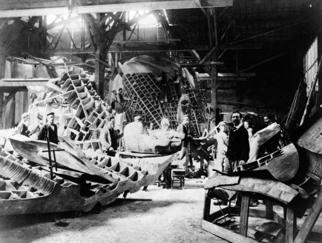 Statue Of Liberty In Bartholdi Workshop