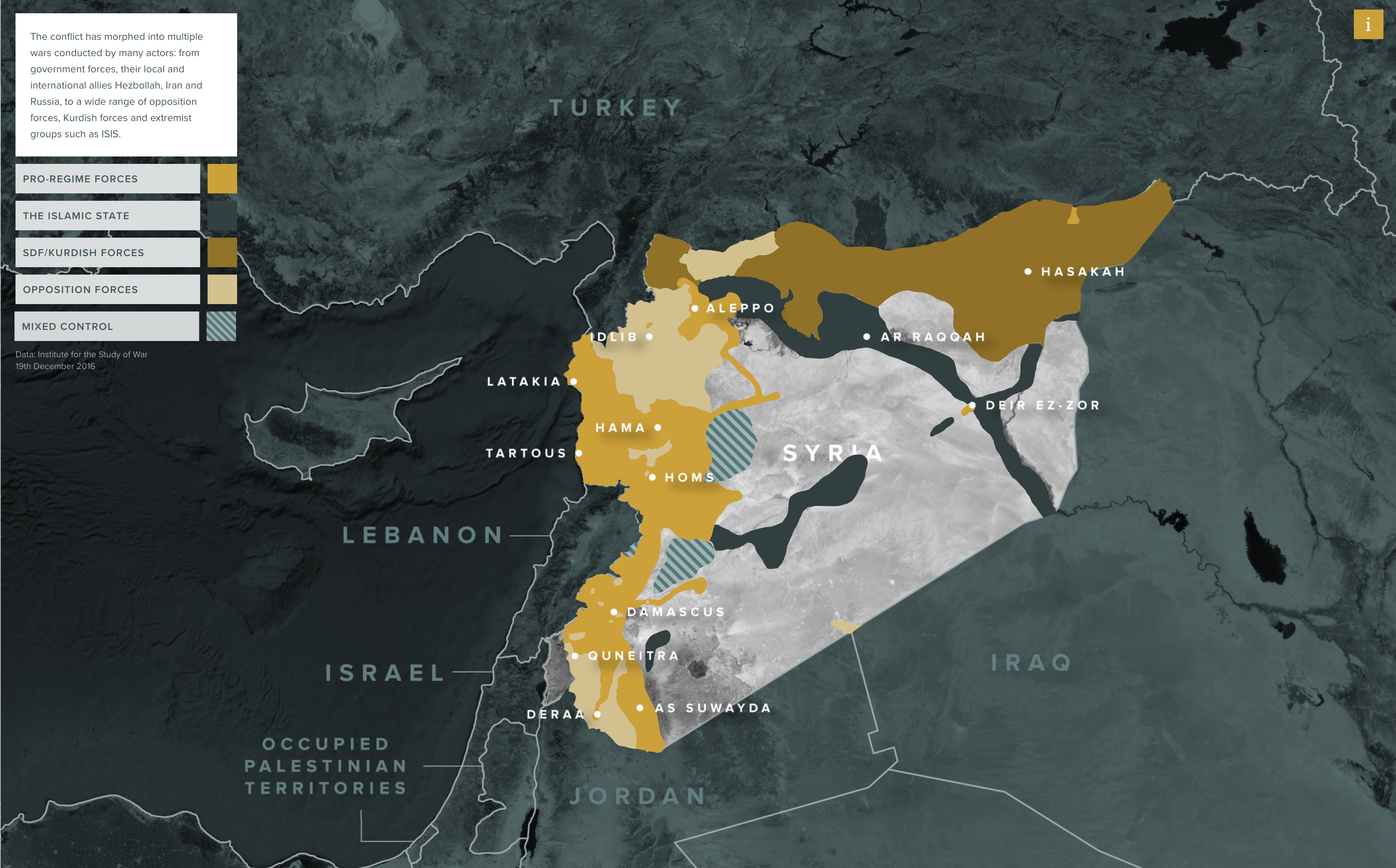 Mapping Syria Geographical Imaginations - Syria interactive map