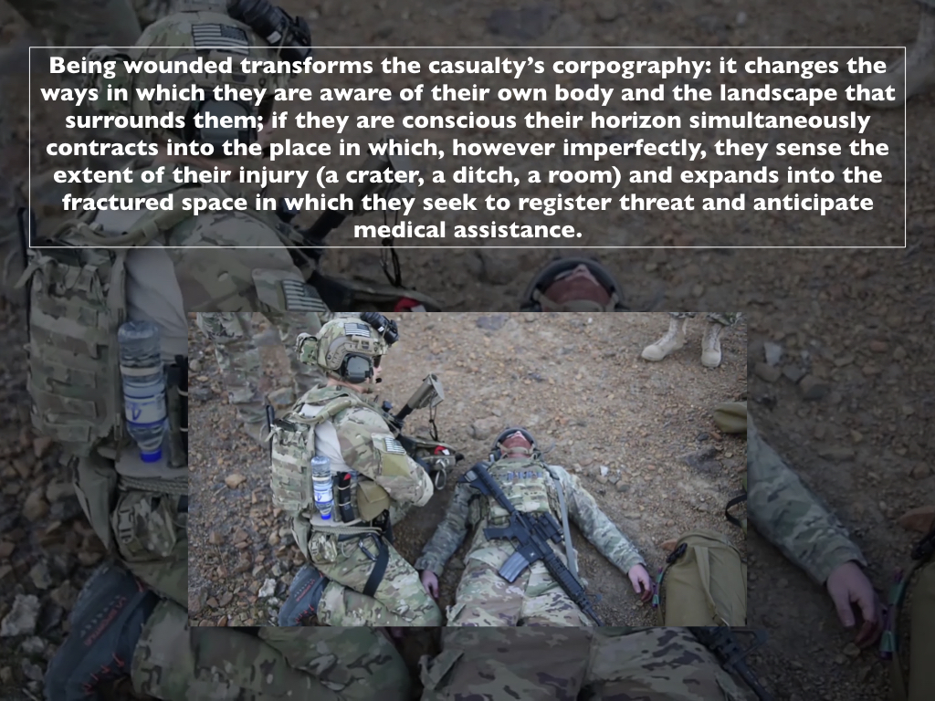 Trauma geographies, woundscapes and the clinic